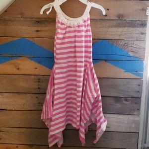 J Crew Crewcuts toddler girl pink striped dress 5